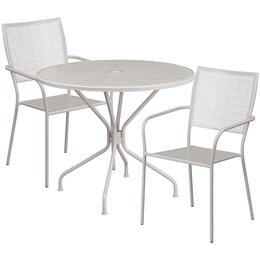 Flash Furniture CO35RD02CHR2SILGG