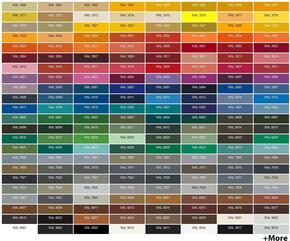 """STANDARD RAL Color Option For 54"""" - 66"""" Range Hoods (Must Supply ..."""