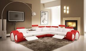 VIG Furniture VGEV4087WHTRED