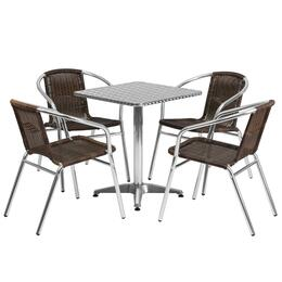 Flash Furniture TLHALUM24SQ020CHR4GG