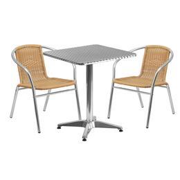 Flash Furniture TLHALUM24SQ020BGECHR2GG