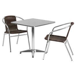 Flash Furniture TLHALUM28SQ020CHR2GG
