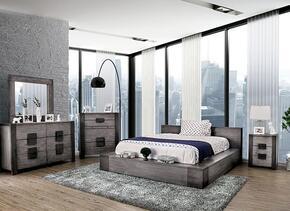 Furniture of America CM7628GYEKBEDNSCHDRMR