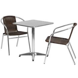 Flash Furniture TLHALUM24SQ020CHR2GG