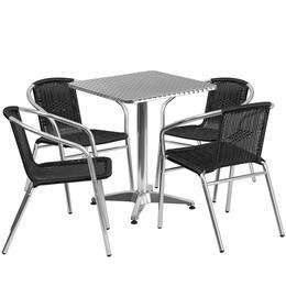 Flash Furniture TLHALUM24SQ020BKCHR4GG