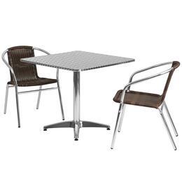 Flash Furniture TLHALUM32SQ020CHR2GG