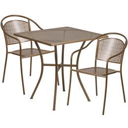 Flash Furniture CO28SQ03CHR2GDGG