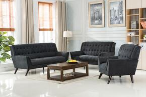 Myco Furniture 1241SGY3PC