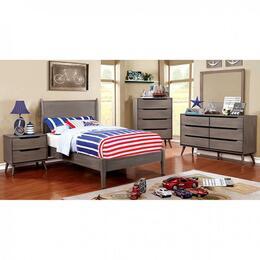 Furniture of America CM7386GYTBEDSET