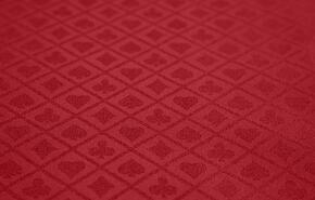 FABRIC-RED-SS Poker Table Fabric Option - Red Suited Speed Fabric