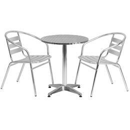 Flash Furniture TLHALUM24RD017BCHR2GG