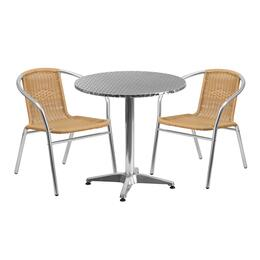 Flash Furniture TLHALUM28RD020BGECHR2GG