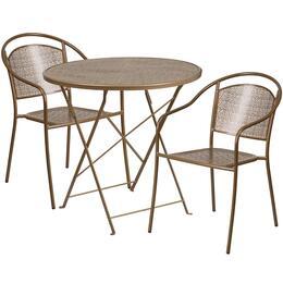 Flash Furniture CO30RDF03CHR2GDGG