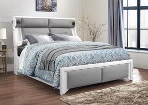 Global Furniture USA 9652WHPUGRQBWSTEREO&LIGHT