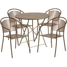 Flash Furniture CO30RDF03CHR4GDGG