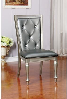 Furniture of America Sarina CM3229SC2PK Dining Room Chair Silver, Main Image