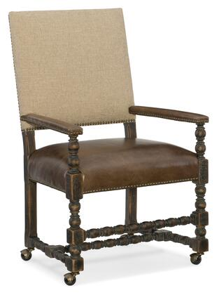 Hooker Furniture Hill Country 596075500BLK Dining Room Chair Brown, Silo Image
