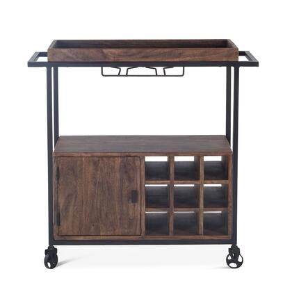 Amici Collection ZWIMBCT34 Bar Cart in Brown