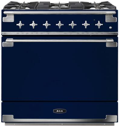 AGA Elise AEL36DFBLB Freestanding Dual Fuel Range Blue, AEL36DFBLB Dual Fuel Range