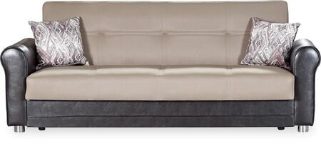 Casamode Avalon Plus AVALONPLUSSOFABEDPRUSABROWN Sofa Bed Brown, Main Image
