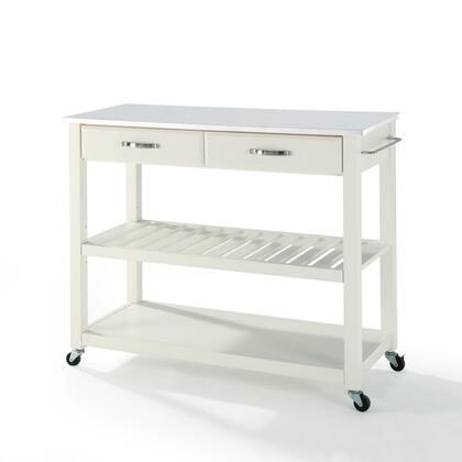 Crosley Furniture  KF30056WH Kitchen Cart White, KF30056WH W1