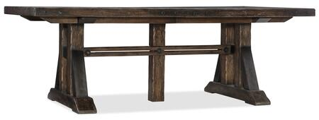 American Life-Roslyn County Collection 1618-75207-DKW Trestle Dining Table with 2 21in