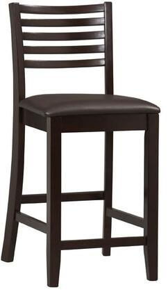 Linon Triena 01863ESP01KDU Bar Stool Brown, 01863ESP-01-KD-U side