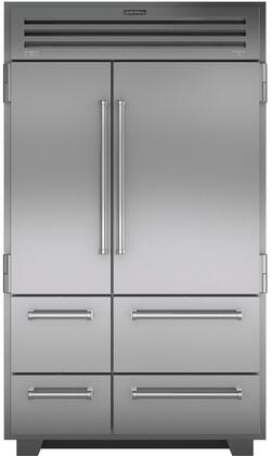 Sub-Zero Pro Series PRO4850 Side-By-Side Refrigerator Stainless Steel, Main Image