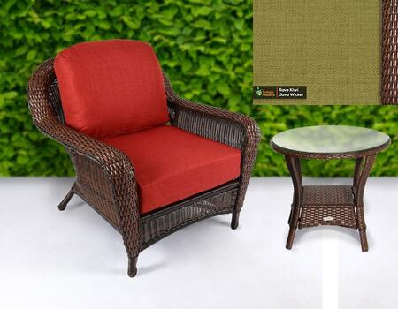 Tortuga Sea Pines LEXCT1JX Outdoor Patio Set Brown, 1