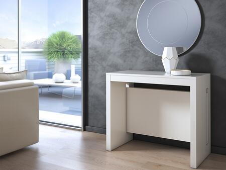 Elasto Collection TC-542B-WH Console in White Wood Grain