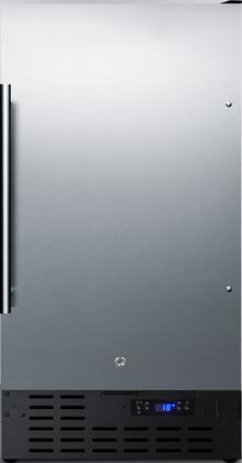 Summit  FF1843BSS Compact Refrigerator Stainless Steel, Main image