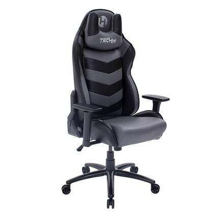 RTA-TS61-GRY-BK TS-61 Ergonomic High Back Racer Style Video Gaming Chair  in