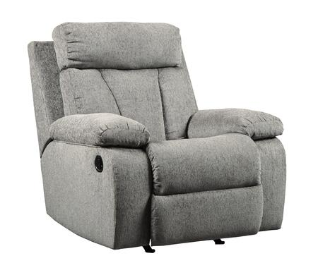 Signature Design by Ashley Mitchiner 7620425 Recliner Chair Gray, Main Image