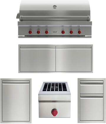 Wolf  1034974 Grill Package Stainless Steel, main image