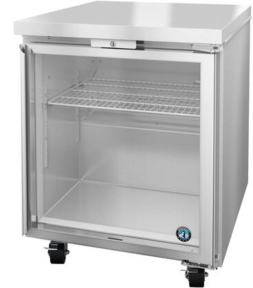 Hoshizaki Steelheart UF27AGLP01 Commercial Undercounter Freezer Stainless Steel, UF27AGLP01 Angled View