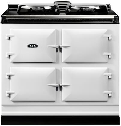 AGA Cast Iron ADC3GWHT Freestanding Dual Fuel Range White, Front View