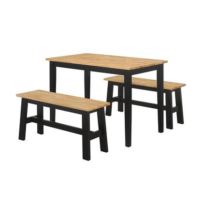 534910 New York Table With 2 Benches  in Natural and