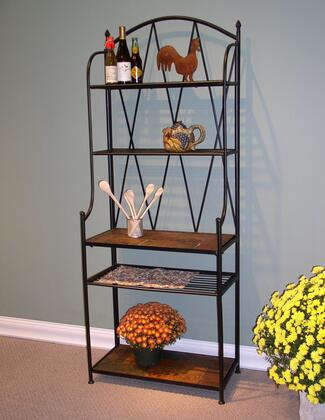 601512 Stone Collection Baker's Rack with Slate