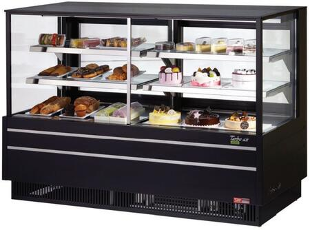 Turbo Air TCGB60UFCOBN Display and Merchandising Refrigerator Black, TCGB60UFCOBN Angled View