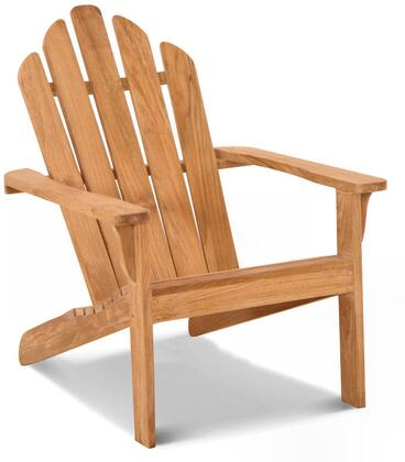 Lakeside Adirondack Collection DN-1531 Chair with Teak Construction  Stainless Steel and Brass Hardware  Mortise and Tenon Joinery in Honey