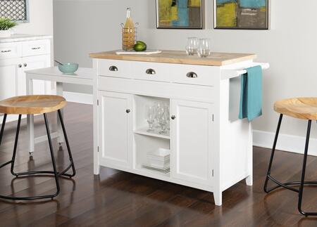 Linon Sheridan K464905WHTABU Kitchen Cart, K464905WHTABU CS218NAT01U