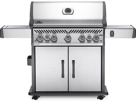 RSE625RSIBNSS-1 66″ Rogue Series SE 625 RSIB Natural Gas Freestanding Grill with 88500 BTU  980 sq. in. Cooking Area  Rear Rotisserie Burner
