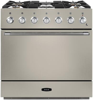 AMC36DF-IVY 36″ Mercury Dual Fuel Natural Gas Range with 4.5 cu. ft. Capacity  Dual Broiler System  5 Sealed Solid Brass Burners  7-mode