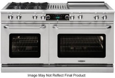 Capital Connoisseurian CSB604BGGSSL Freestanding Dual Fuel Range Stainless Steel, Main Image