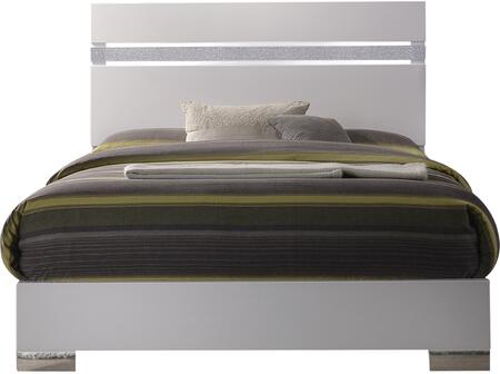 Acme Furniture Naima II 26767EK Bed White, Front View