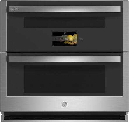 ge profile pts9200snss 30 inch 5 cu ft total capacity electric double wall oven