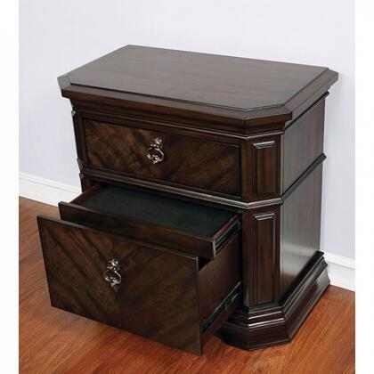 Furniture of America Calliope CM7751N Nightstand Brown, CM7751N