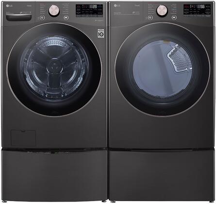 LG  1289249 Washer & Dryer Set Black, 1
