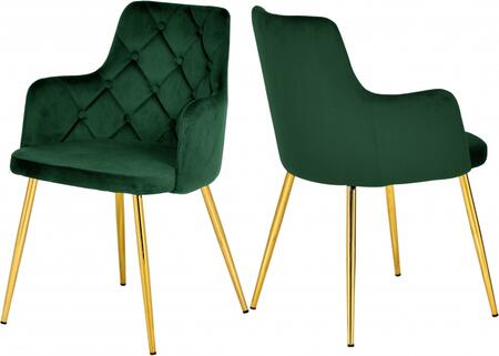 Meridian Salvatore 757GREEN Dining Room Chair Green, 757GREEN Main Image