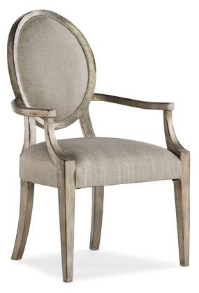 Hooker Furniture Sanctuary 2 58757550095 Dining Room Chair Beige, Silo Image